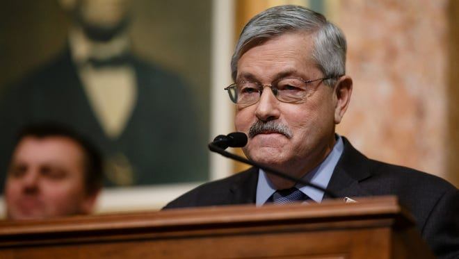 Iowa Gov. Terry Branstad delivers his final Condition of the State address on Jan. 10, 2017. He has been nominated as the U.S. ambassador to China.