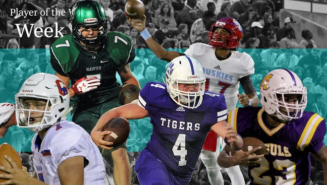 Player of the Week nominees for week 13 are Alex Thorn, Munday, Mar'tez Vrana, Hirschi, Caleb Keith, Jacksboro, Billy Pearson, Iowa Park and Tucker Horn, Graham.