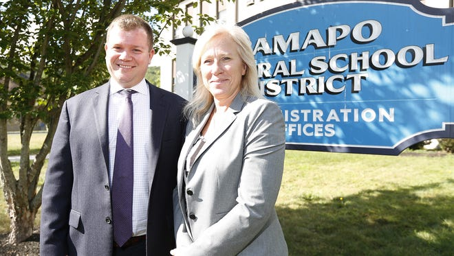 Ramapo Central Deputy Superintendent Stephen Walker and school board President Theresa DiFalco say that Central Ramapo is often confused for East Ramapo.