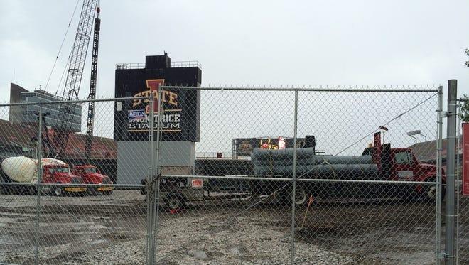 Jack Trice Stadium construction site.