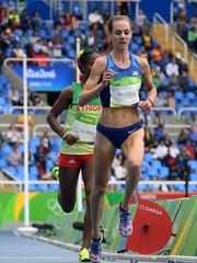 Molly Huddle competes Friday in the women's 10,000-meter