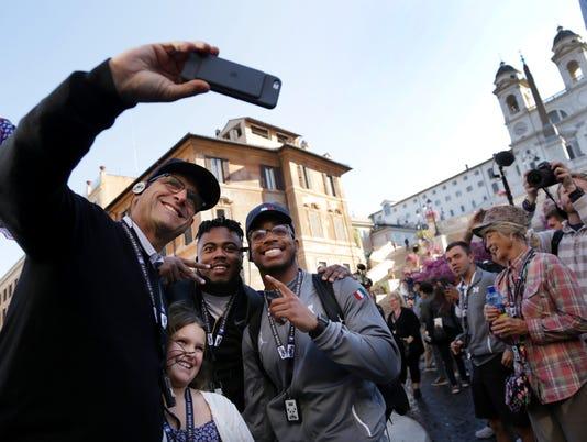 Jim Harbaugh selfie, Addie Harbaugh