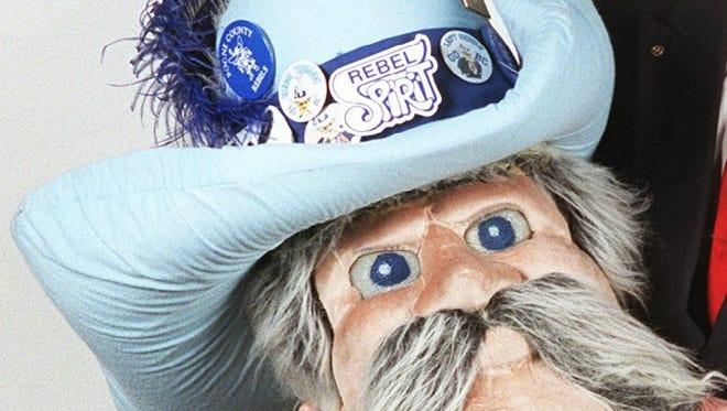 Boone County High School's imagery of Mr. Rebel, once frequently pictured before a Confederate flag, was phased out in 2017. But now hundreds are calling on the district to remove the mascot entirely.