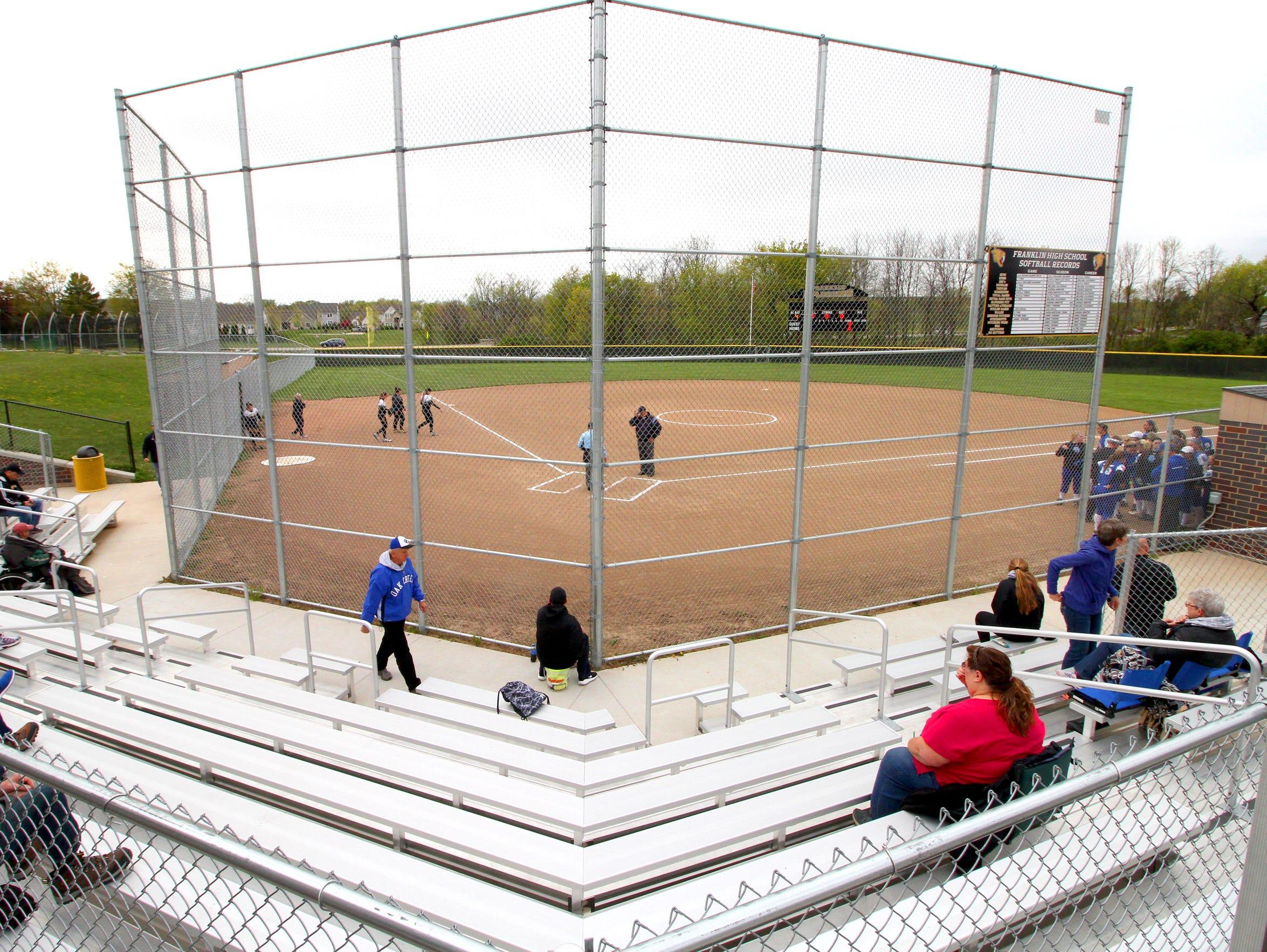 Franklin's new softball stadium as fans arrive for