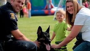 Families will have a chance to visit with Westland Police dogs at the Community Gathering in Corrado Park Wednesday.