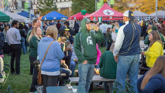 The second annual Big Game Detroit tailgate is Oct. 26 at Campus Martius Park and Cadillac Square. More than 800 attended last year's event.