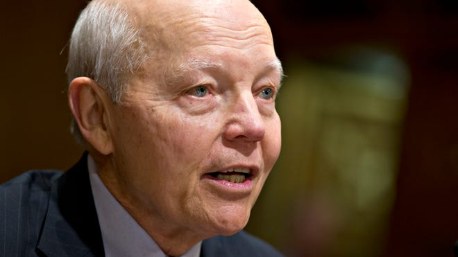 Internal Revenue Service Commissioner John Koskinen at his Senate nomination hearing in December.