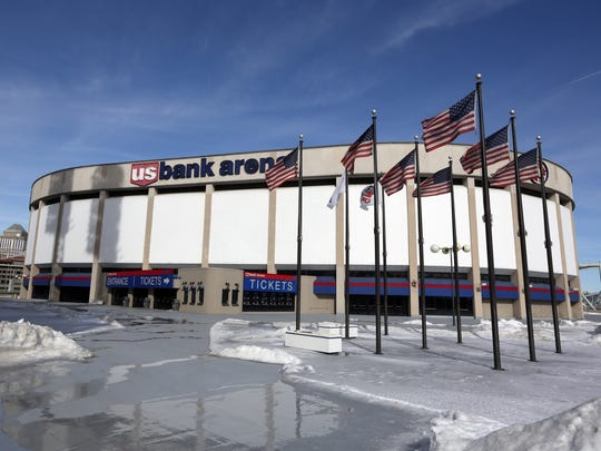 U.S. Bank Arena has been renovated one time since it opened up.