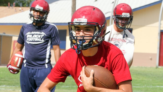 Deming High football practices have been spirited and efficient during the first two weeks of drills. Fans will get a chance to see how the work is paying off when the Navgy-Cardinal Game is played out at 7 p.m. on Friday, Aug. 18 at DHS Memorial Stadium.
