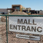 Construction continues at Foothills Mall Tuesday, July 28, 2015. The project to add a Cinemark movie theater, 660,000 square-feet of retail space and up to 800 apartments is expected to be completed later this year.