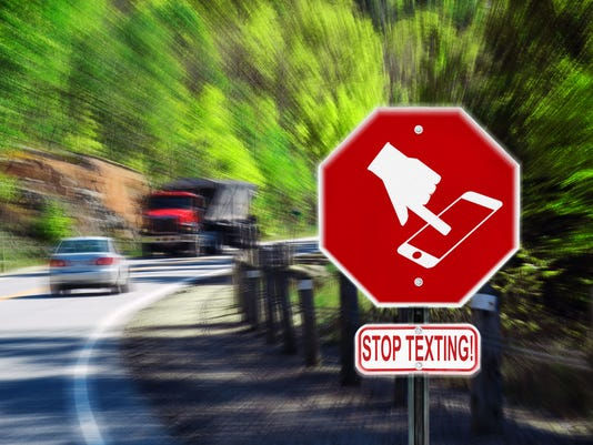 Stop Texting While Driving - Highway