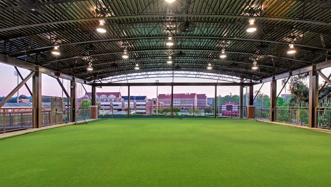 The FSU softball facility has four batting tunnels, four bullpens, coaches' observation areas, equipment storage and a multipurpose training and fielding area.