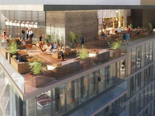 The rooftop for the W hotel planned in the Gulch.