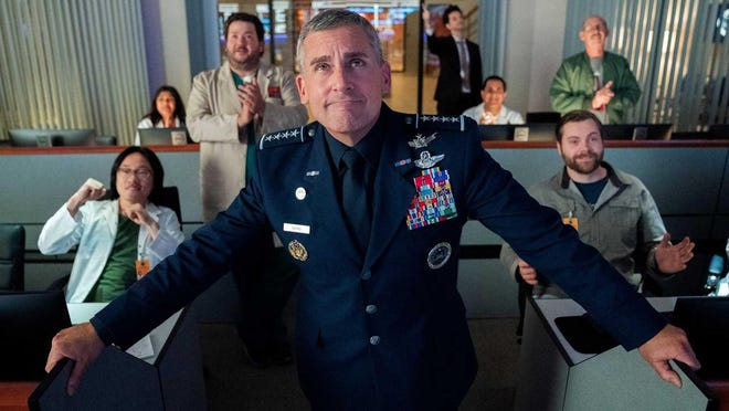 "Steve Carell stars as Gen. Mark R. Naird in ""Space Force."""
