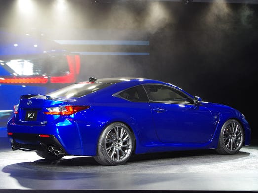 The Lexus RC F performance coupe, introduced on the brand's 25th anniversary at the Detroit Auto Show.