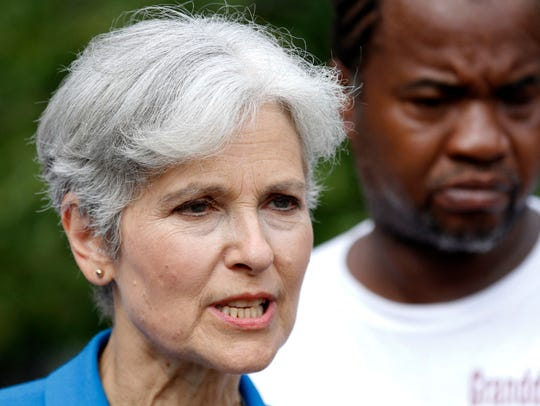 Green Party presidential candidate Jill Stein speaks