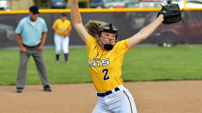 Bre Barchak spent her first three high school seasons with Blue Springs. Now she will pitch her senior season for crosstown rival Blue Springs South, which will vie for its third straight state championship.
