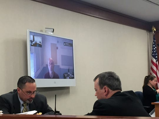 Randy Sheltra appears in Vermont Superior Court in