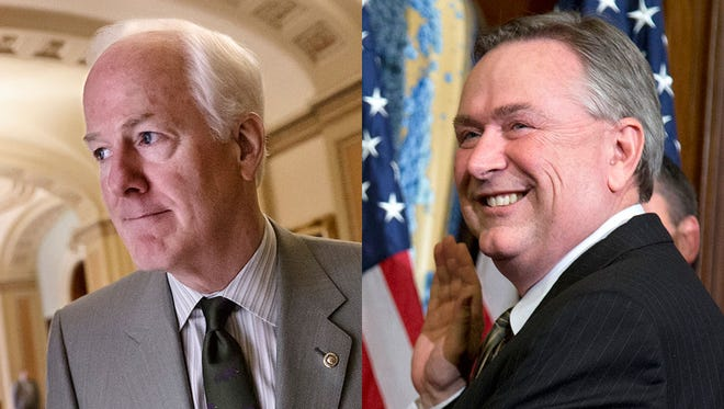 Sen. John Cornyn defeated Rep. Steve Stockman in the Texas GOP Senate primary.