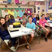 Ten Alexandria Country Day School students that were awarded National Spanish Exam honors.