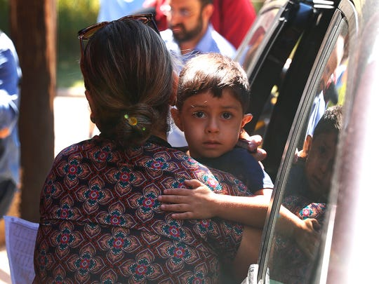 A child from Honduras is brought to the United States