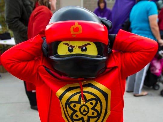 Kadence Ward-Taylor, 6, of Altoona appeared as Kai of Ninjago during Safe Trick or Treat.
