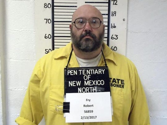This Feb. 13, 2017 photo from the New Mexico Corrections Department shows inmate Robert Fry, one of just two men remaining on the New Mexico's death row after the state repealed capital punishment in 2009. Defense attorneys for Fry and Timothy Allen Tuesday, April 10, 2018, urged the state Supreme Court to consider an array of similar murder cases resulting in lighter sentences, as justices weigh whether to move forward with the executions in a state that no longer allows death sentences.