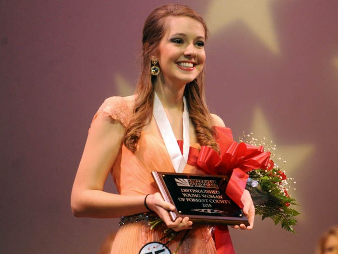 Abbie Rogers is named the 2015 Distinguished Young Woman of Forrest County.