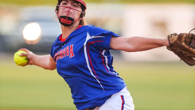Neshoba Central freshman pitcher Aspen Wesley carries the Lady Rockets into the Class 5A championship vying for their fourth title in a row.