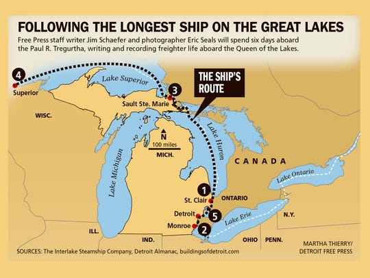 Following the longest ship on the Great Lakes