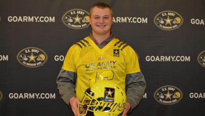 Bay Port senior Cole Van Lanen is the only player from Wisconsin competing in Saturday's U.S. Army All-American Bowl at San Antonio, Texas.