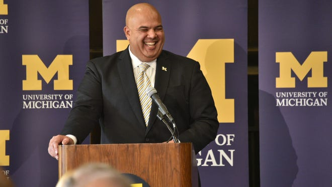 New UM athletic director Warde Manuel was introduced to sports administraton by the university's former AD Tom Goss.