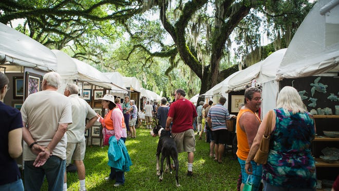 """This year, the Chain of Parks Art Festival will """"go green"""" through a partnership with Sustainable Tallahassee"""