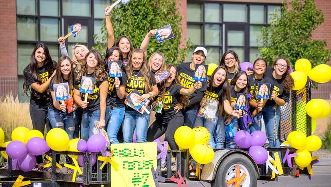 Pictured are participants at the homecoming parade in 2015. 