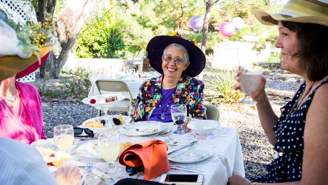 Pictured are attendees of the 2015 Hats in the Garden event at Western New Mexico University.
