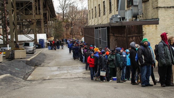 Black Friday morning dawned with a line at Lakefront Brewery last year.
