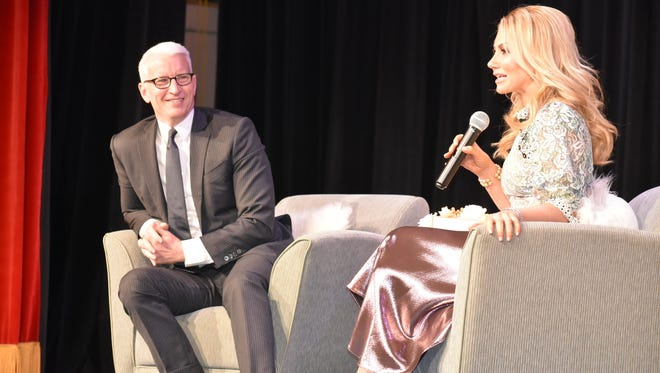 Anderson Cooper spoke during an event at Kaplen JCC on the Palisades on June 4, taking audience questions. Raina Seitel, host and correspondent for NBC's New York LIVE moderated the event.