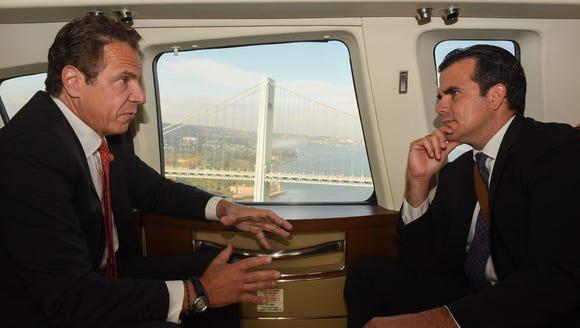 Gov. Andrew Cuomo and Puerto Rico Gov. Ricardo Rossello