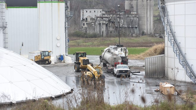 A failed tank spilled thousands of gallons of wastewater onto Quasar's property late Wednesday night.