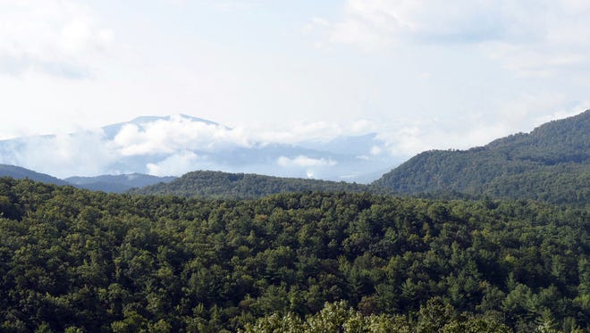 The Bear Den property as viewed from the Blue Ridge Parkway.
