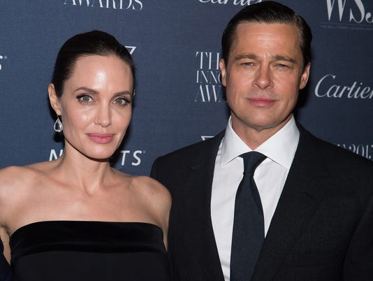 AP BRAD PITT-ANGELINA JOLIE-DIVORCE A ENT FILE USA NY