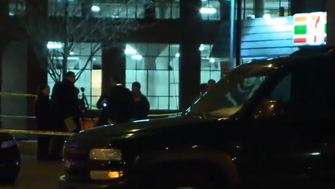 St. Louis police investigate a shooting in downtown Wednesday evening.