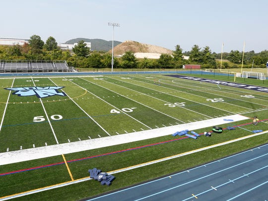 The new turf field at John Jay High School in Hopewell Junction on Tuesday, August 22, 2017.