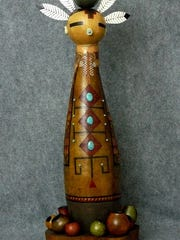 Local artist Kathe Stark's gourd art is inspired by Southwestern themes.