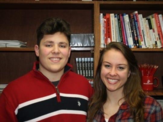 Daniel Winogradoff and Katherine Bensburg are seniors at Mahopac High School, where their teachers sometimes give them homework on snow days.