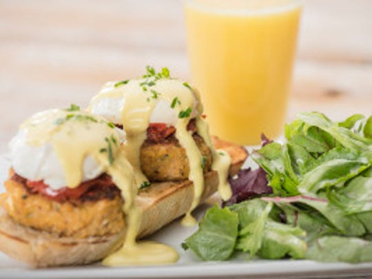 Crab Cake Benedict is a favorite at First Watch.