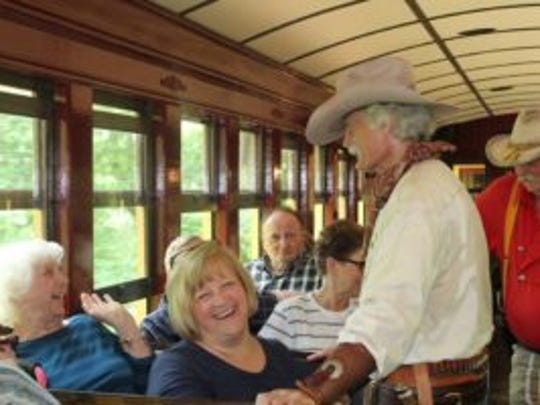 The James-Younger Gang will rob Steam Into History trains July 21 for the Cowboy Train Robbery.