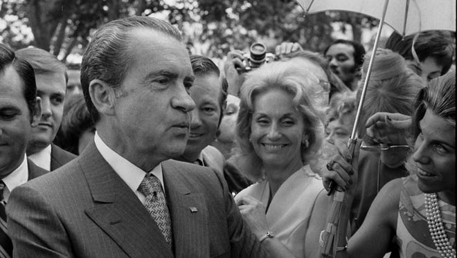 The most controversial president in U.S. history, Richard M. Nixon, built a Congressional career around warning of Communist subversives being everywhere and exploiting the fears of the American people. This was in evidence when he visited Richmond on May 14, 1949.