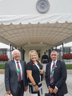 Pictured from left: Former State Representative and Mayor's Nuclear Task Force Chair John Heaton, District 5 Eddy County Comissioner Susan Crockett, and Carlsbad Mayor Dale Janway, prior to a meeting with White House officials on July 15, 2016.
