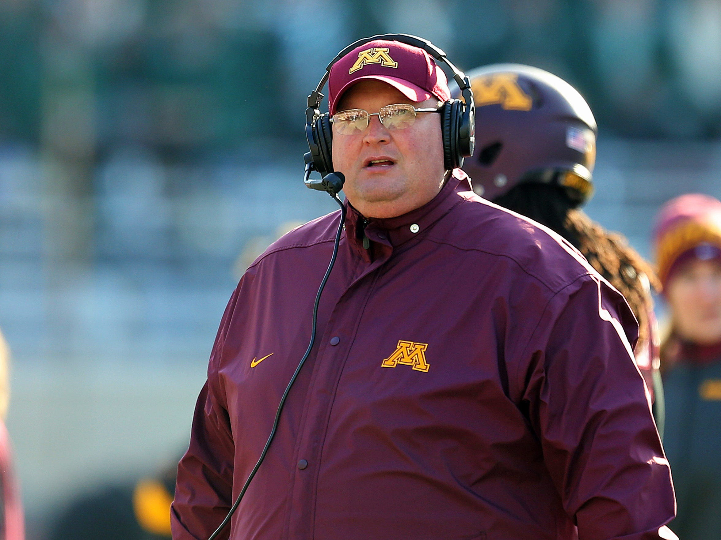 Minnesota defensive coordinator Tracy Claeys
